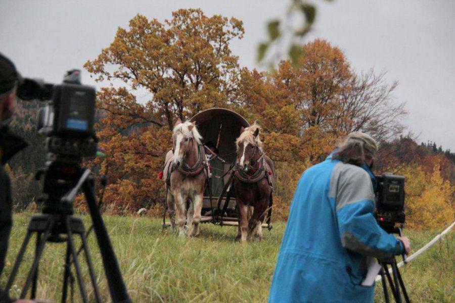 Natáčení dokumentu o Bibli kralické Pod ochranou Žerotínů