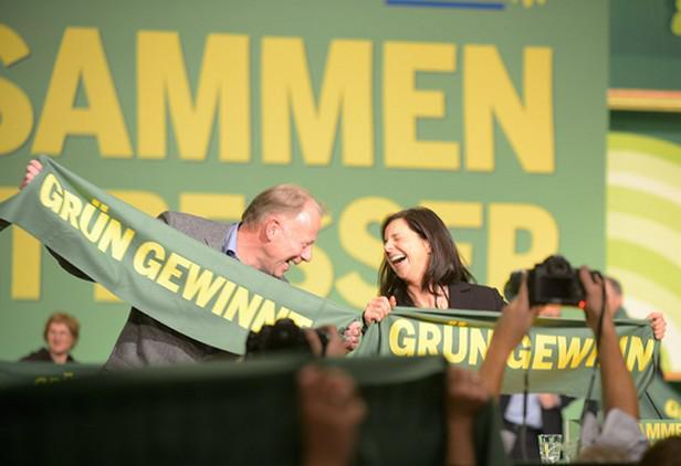Čelní kandidáti zelených Jürgen Trittin a Katrin Göringová-Eckardtová