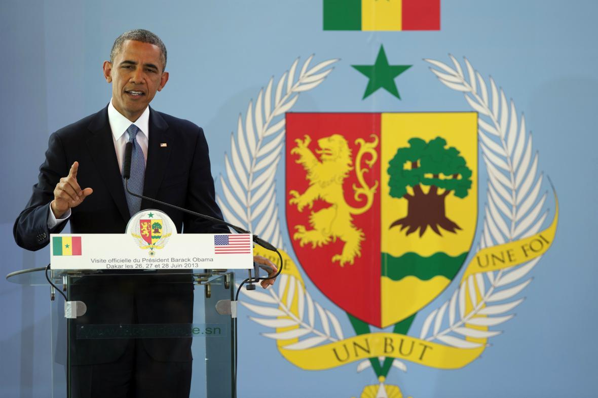 Barack Obama v Senegalu