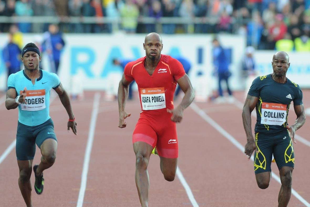 I když se stovka mužů běžela nadvakrát, měla vždy stejného vítěze, Asafu Powella