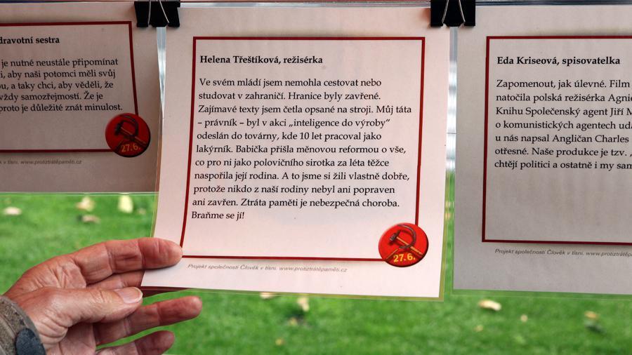 Svou vzpomínku připojila i autorka časosběrných dokumentů Helena Třeštíková