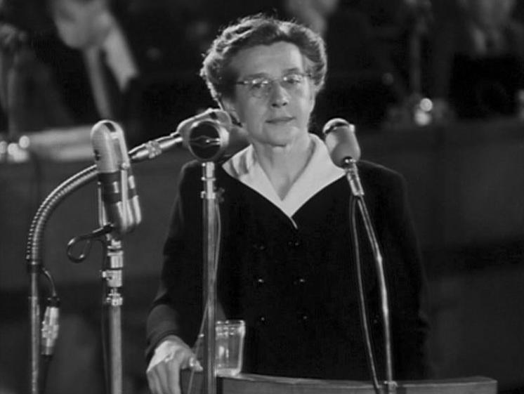 Milada Horáková při závěrečné řeči