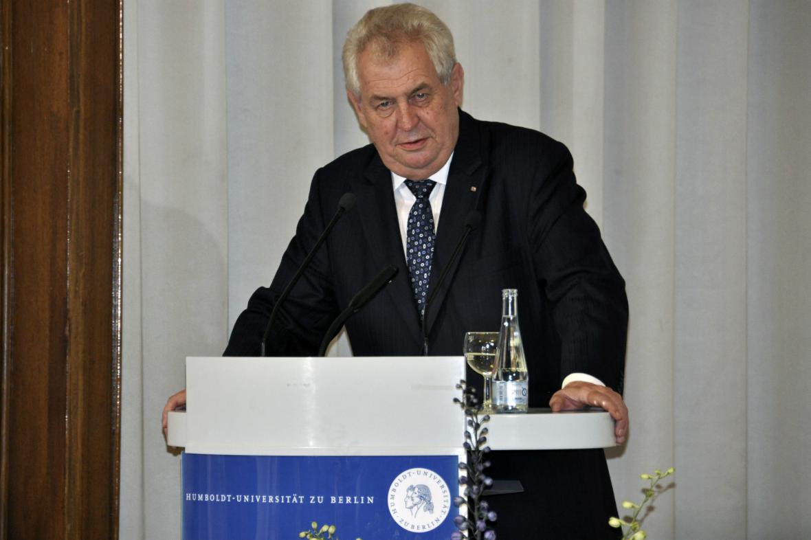 Zeman na Humboldtově univerzitě v Berlíně