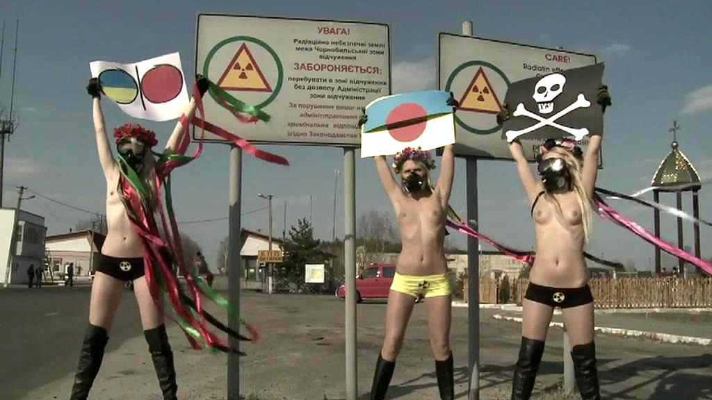 Feministky z hnutí FEMEN