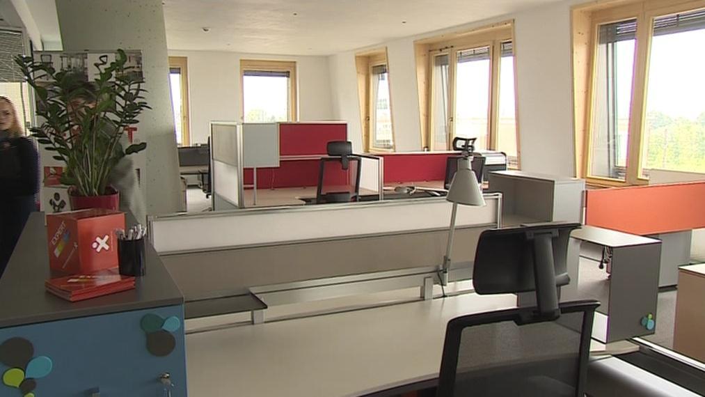 Interiér kanceláří v AZ Tower