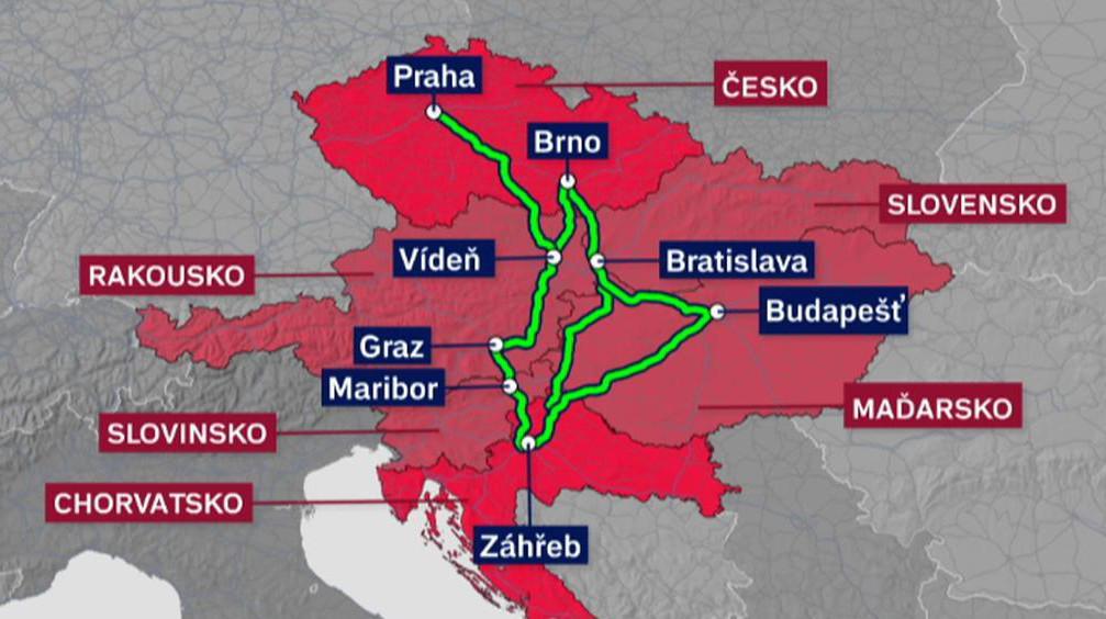 Trasy do Chorvatska