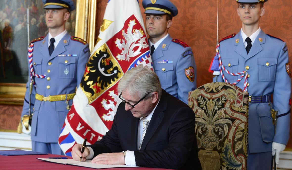 Šéf úřednické vlády Jiří Rusnok
