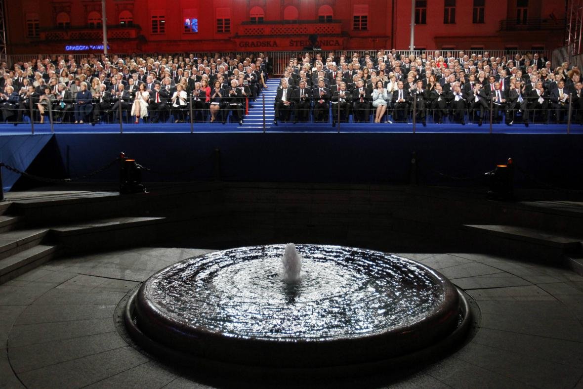 Oslavy vstupu Chorvatska do EU