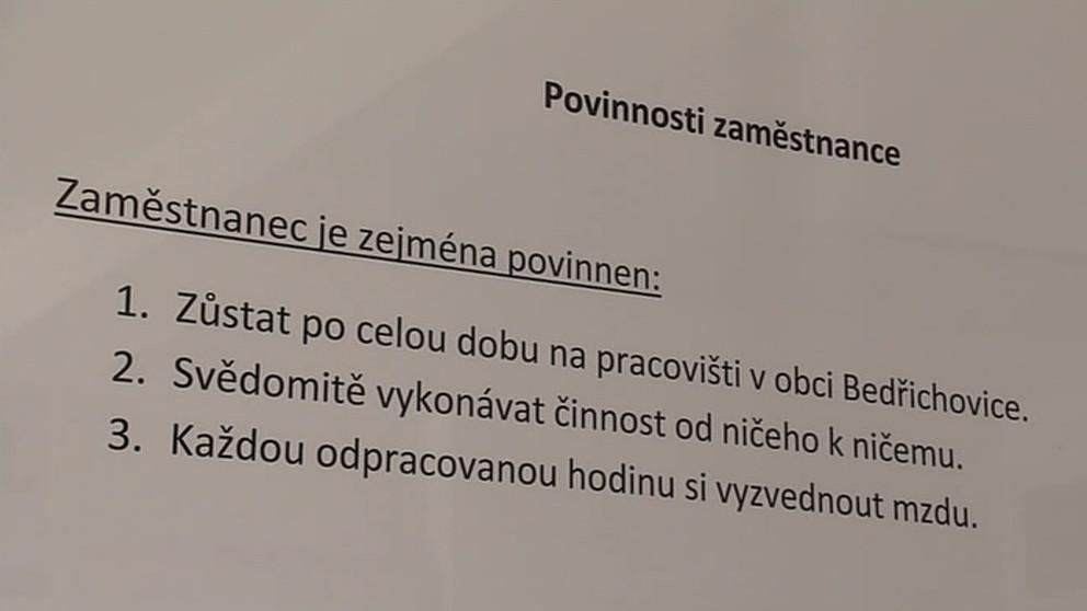Povinnosti Bedřichovických v den státního svátku