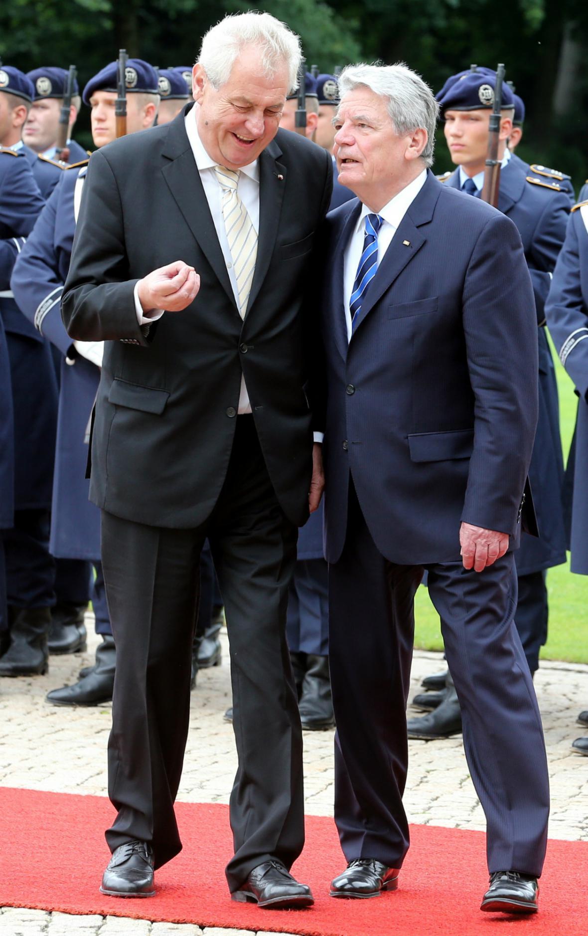 Joachim Gauck a Miloš Zeman