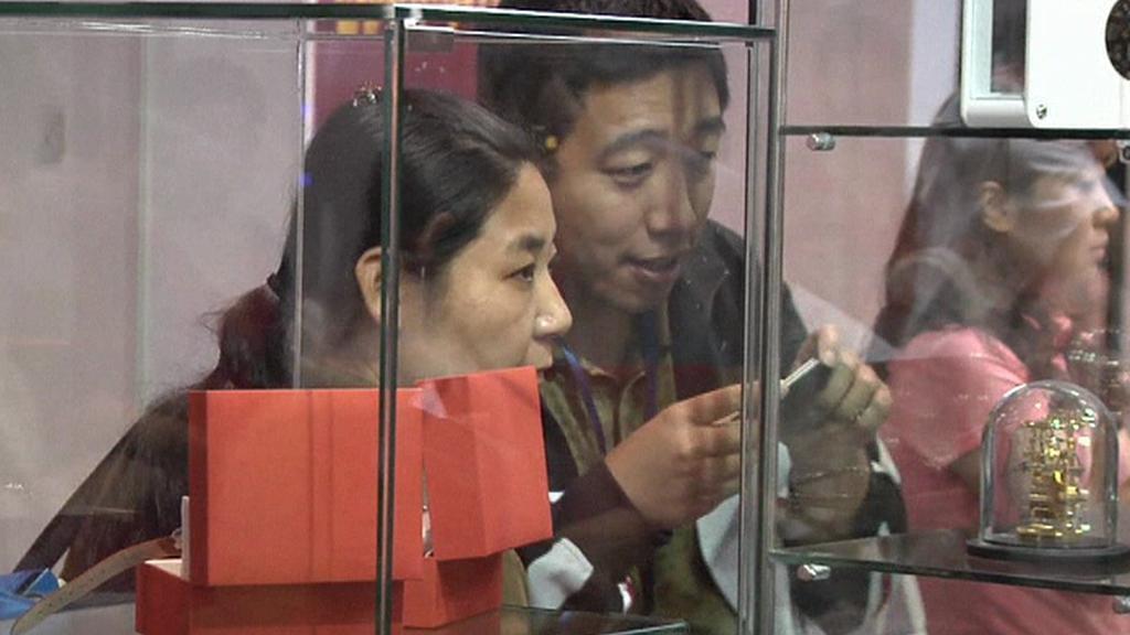 Veletrh luxusního zboží v Pekingu