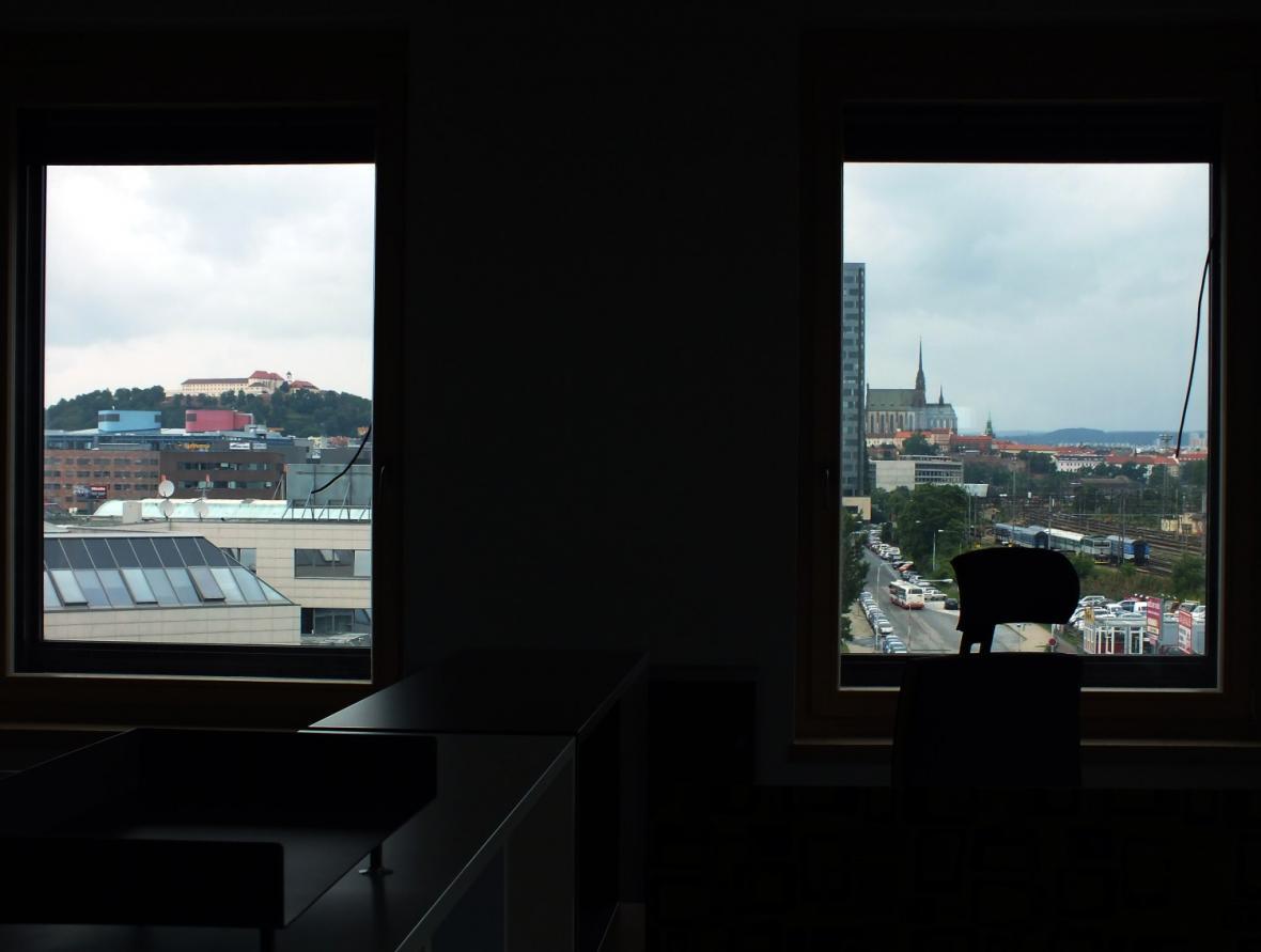 Z kanceláří je výhled na Špilberk i Petrov