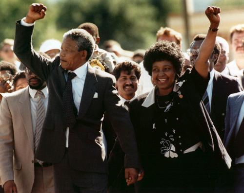 Propuštění Nelsona Mandely z vězení