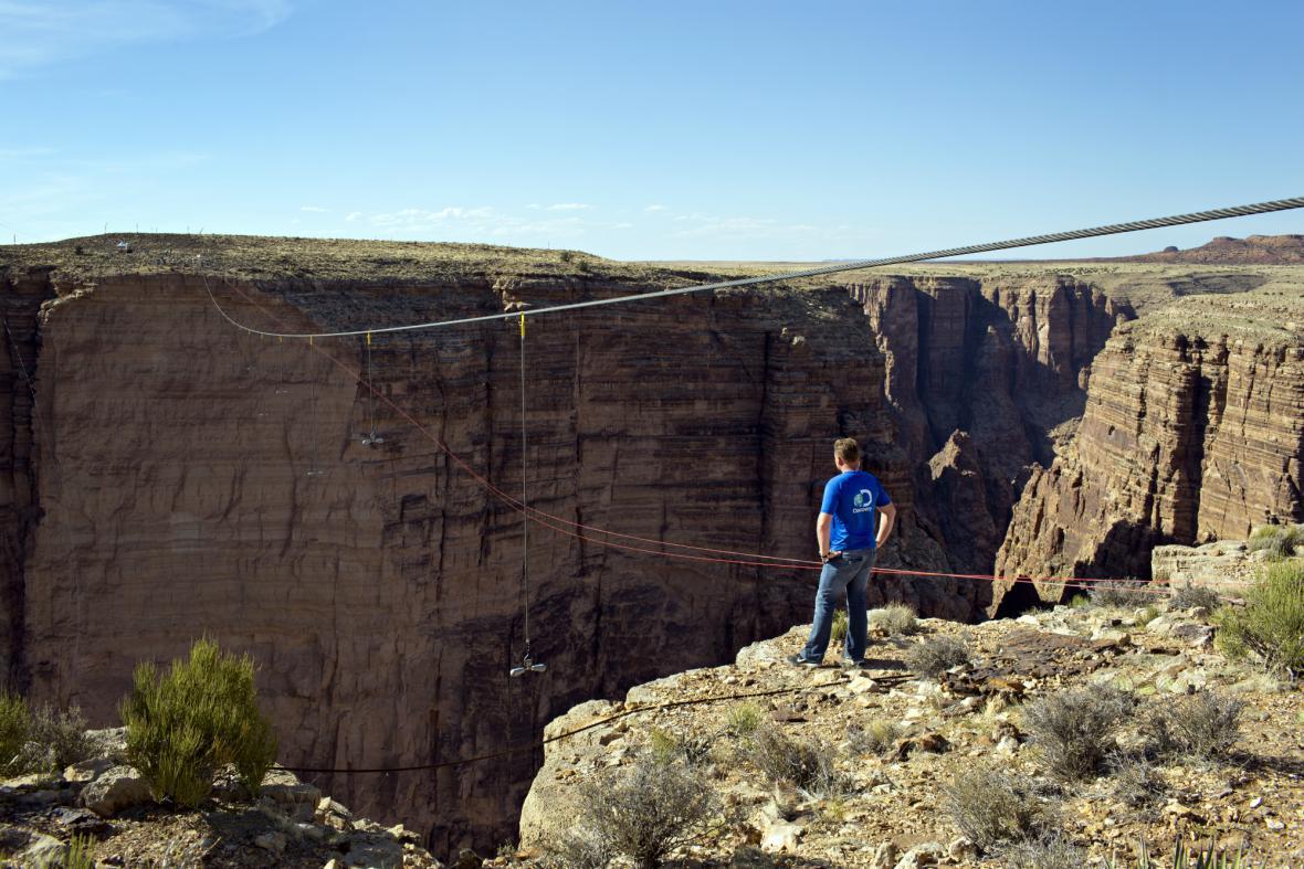 Wallenda se připravuje na přechod Grand Canyonu