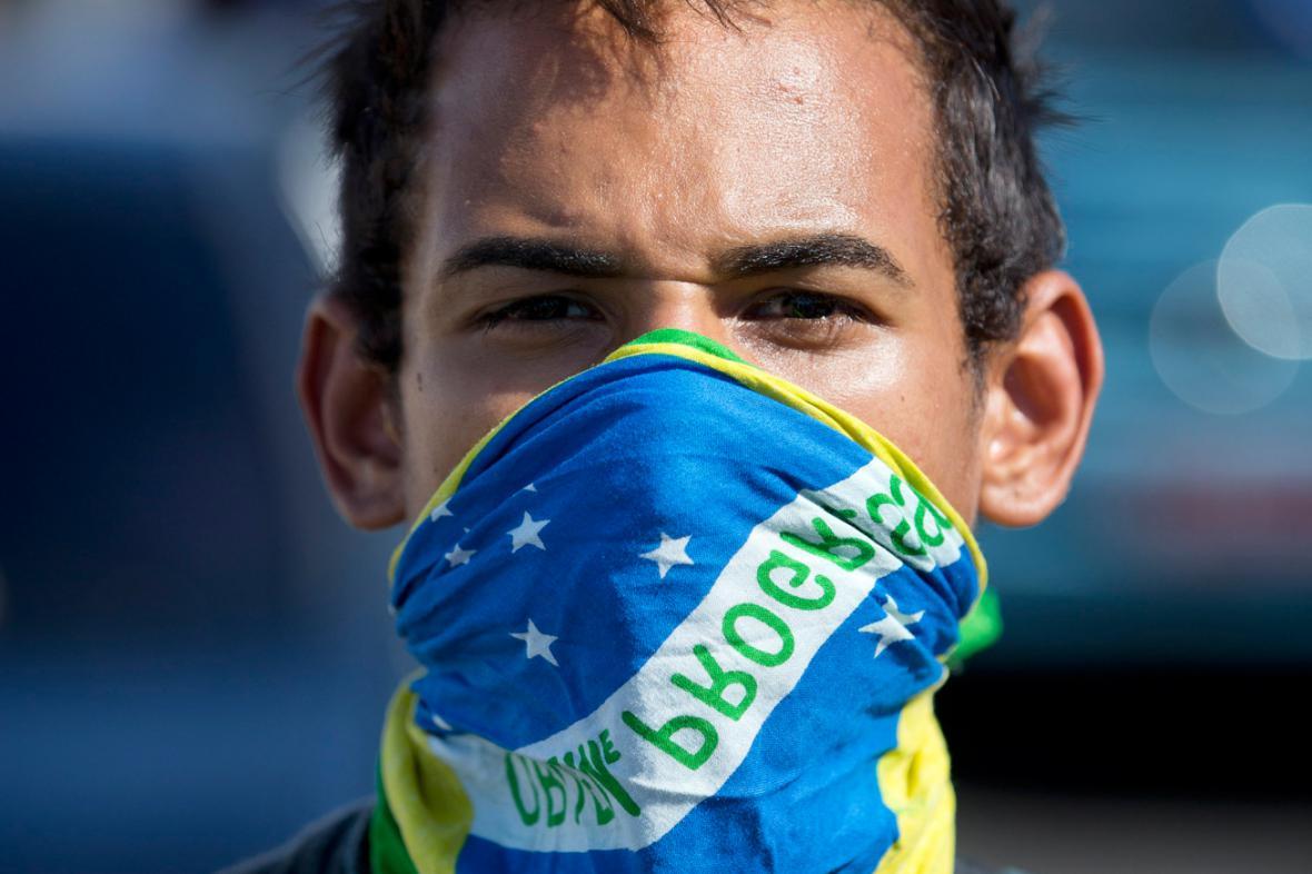 Brazilský demonstrant