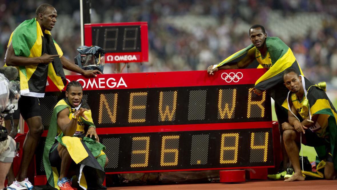 Jamajská štafeta a nový světový rekord