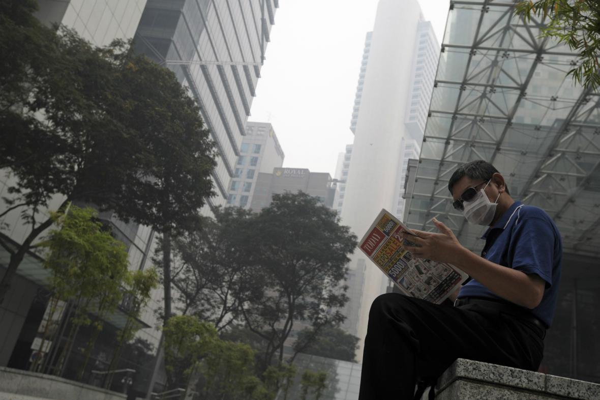 Singapur dál trápí kouř z vypalovaných lesů