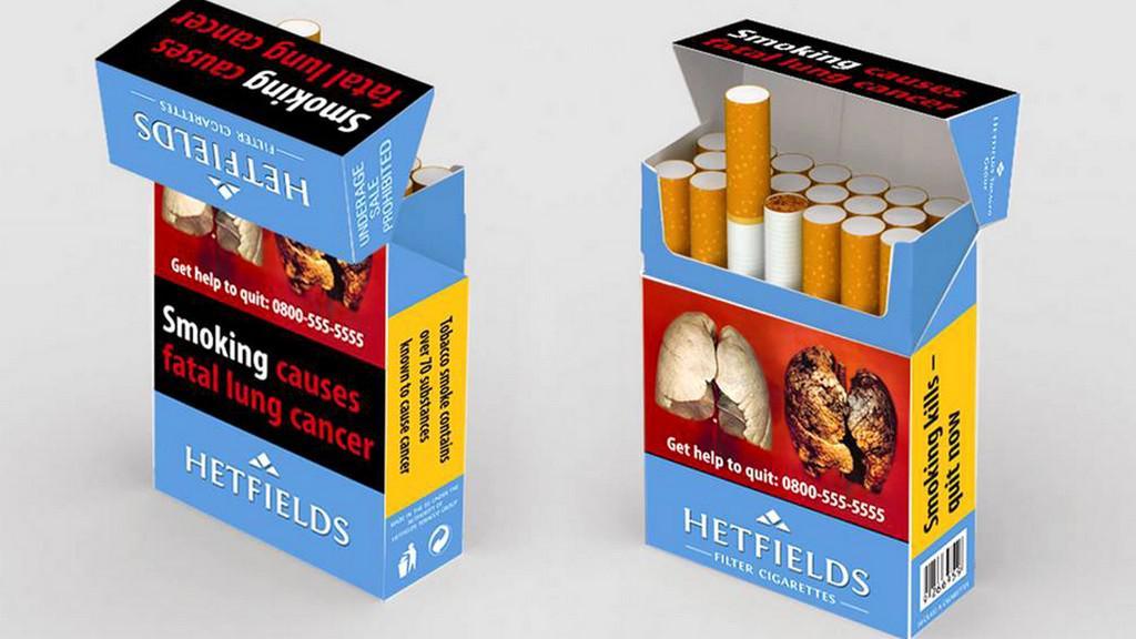 Nově upravené krabičky cigaret