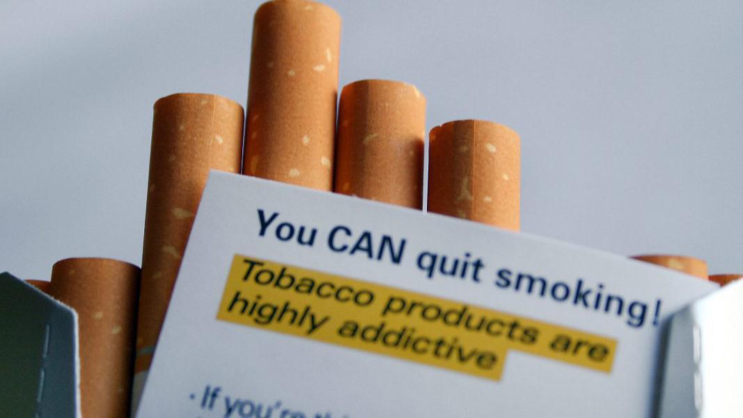 Vzkaz kuřákům v kanadských cigaretách