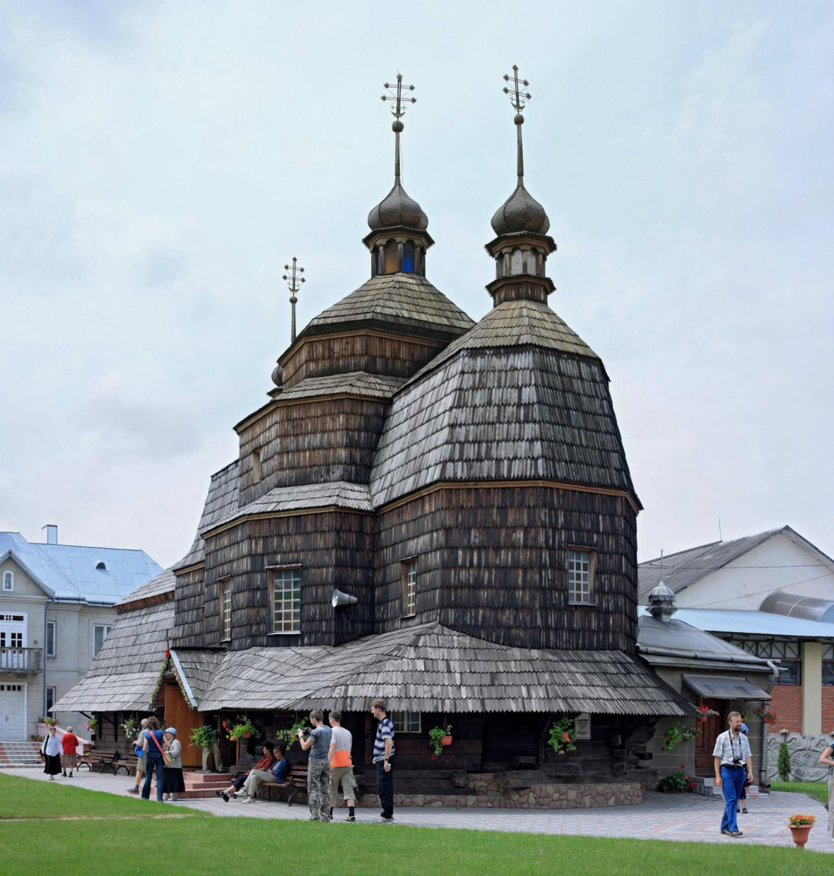 Dřevěný ukrajinský kostel