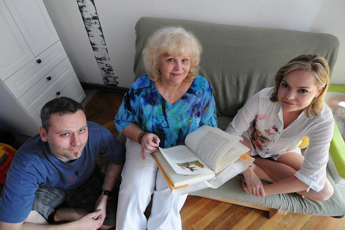 Celé Česko čte dětem - rodina Kačmarských
