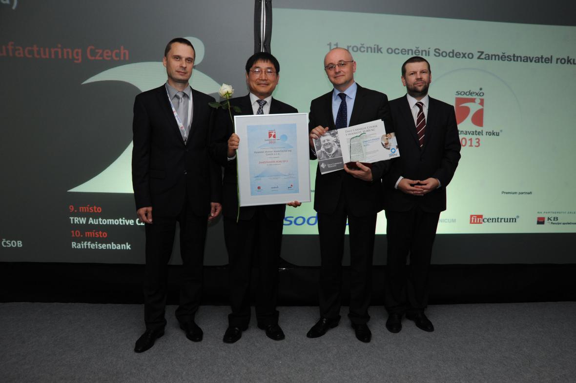 Hyundai Motor Manufacturing je Zaměstnavatelem roku 2013