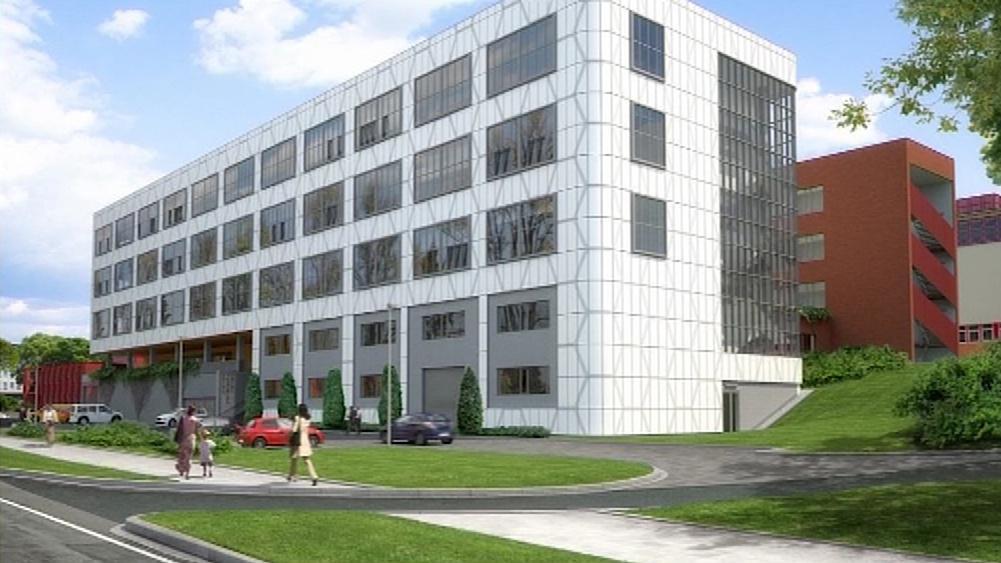 Vizualizace nového vědeckého centra ve Zlíně
