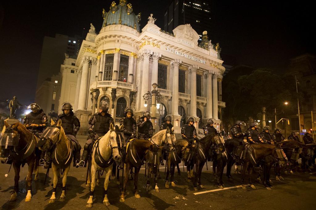 Pořádková policie na koních v Riu de Janeiru