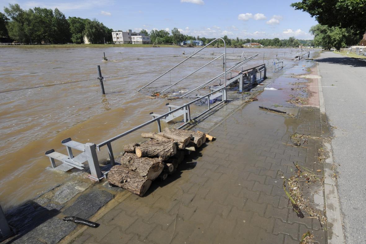 Pražská Troja po povodni