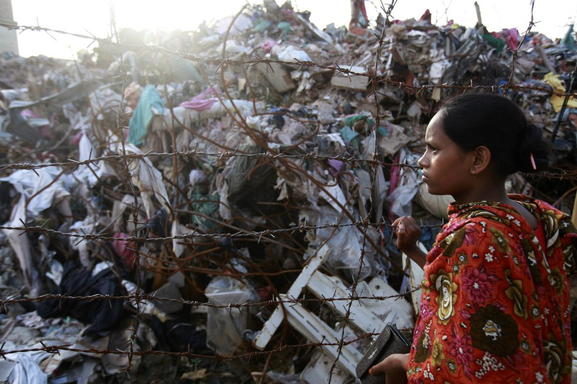 Trosky bangladéšské textilky