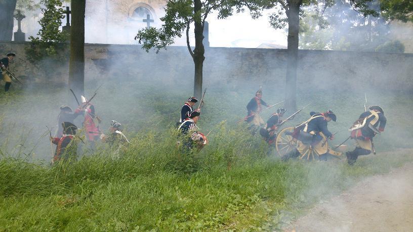 Pruská vojska dobyla rakouské dělo