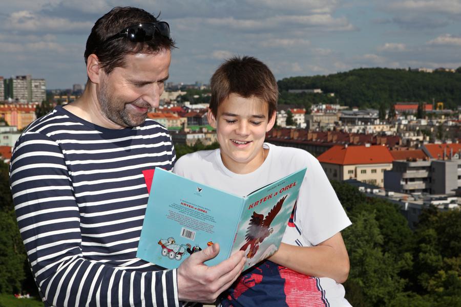 Robert Záruba se synem Viktorem