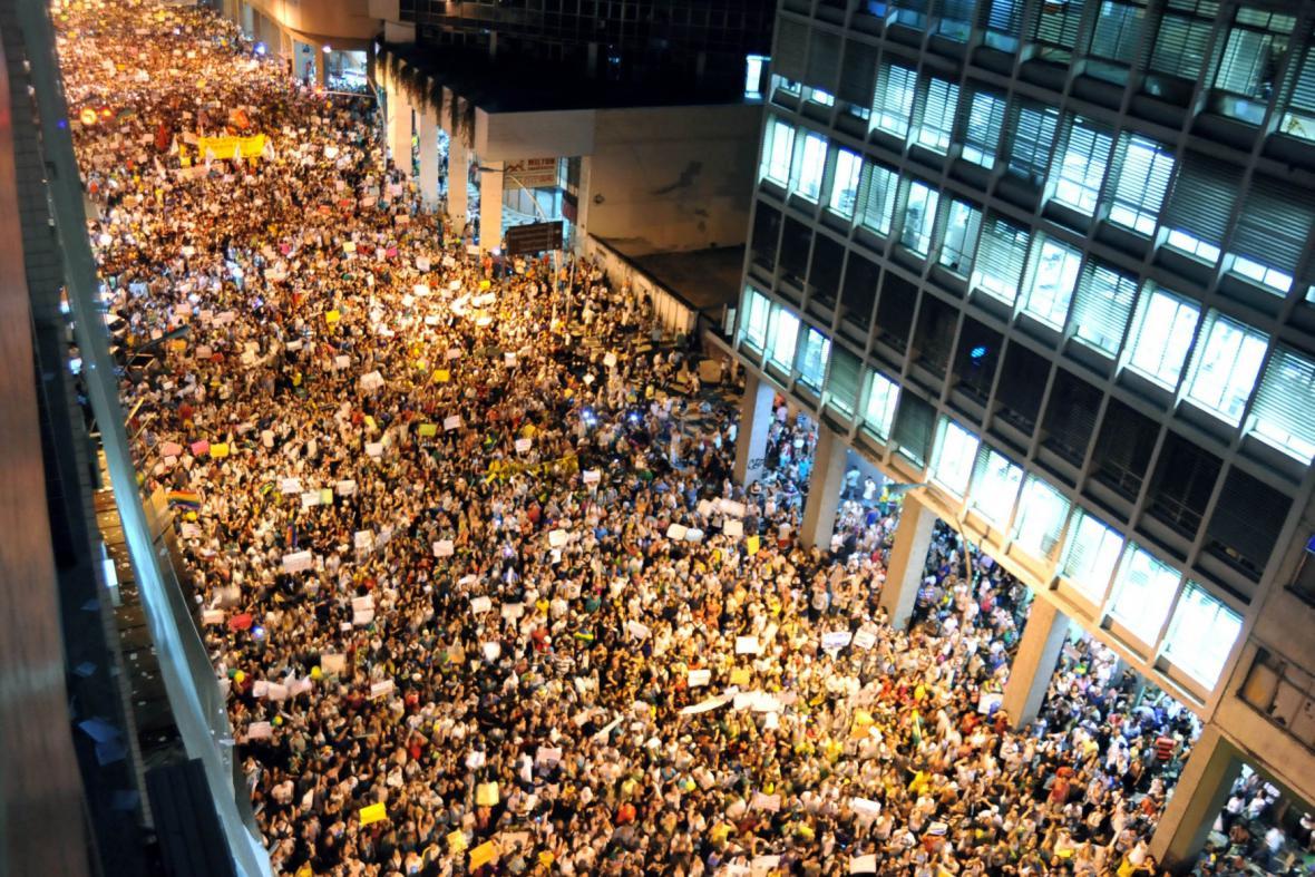 Demonstrace v Riu de Janeiru