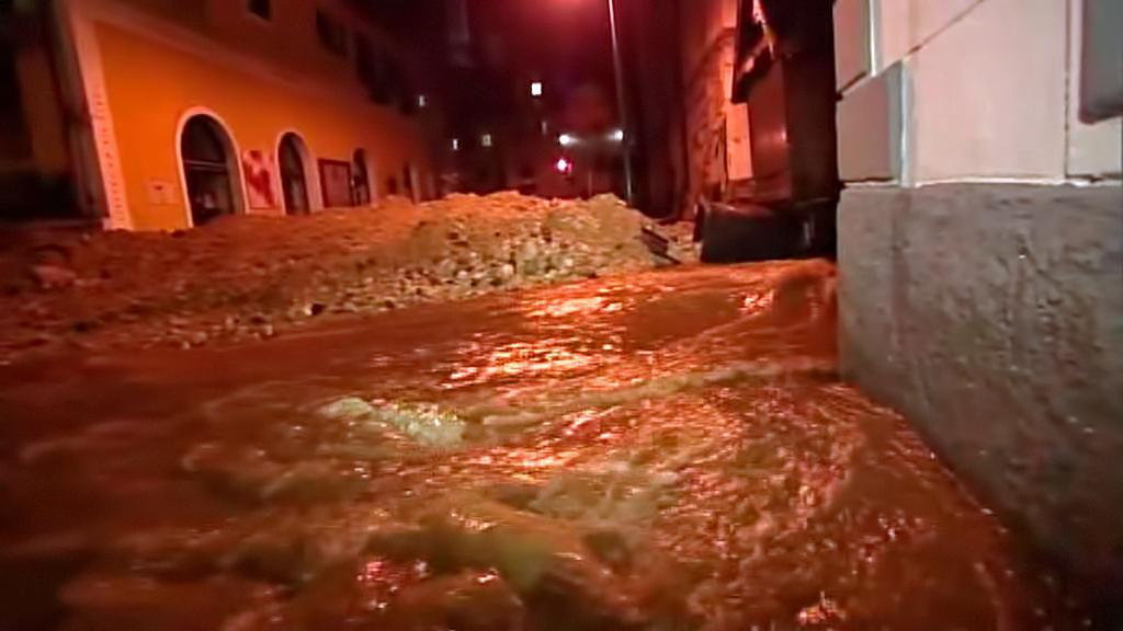 Blesková povodeň v Hallstattu