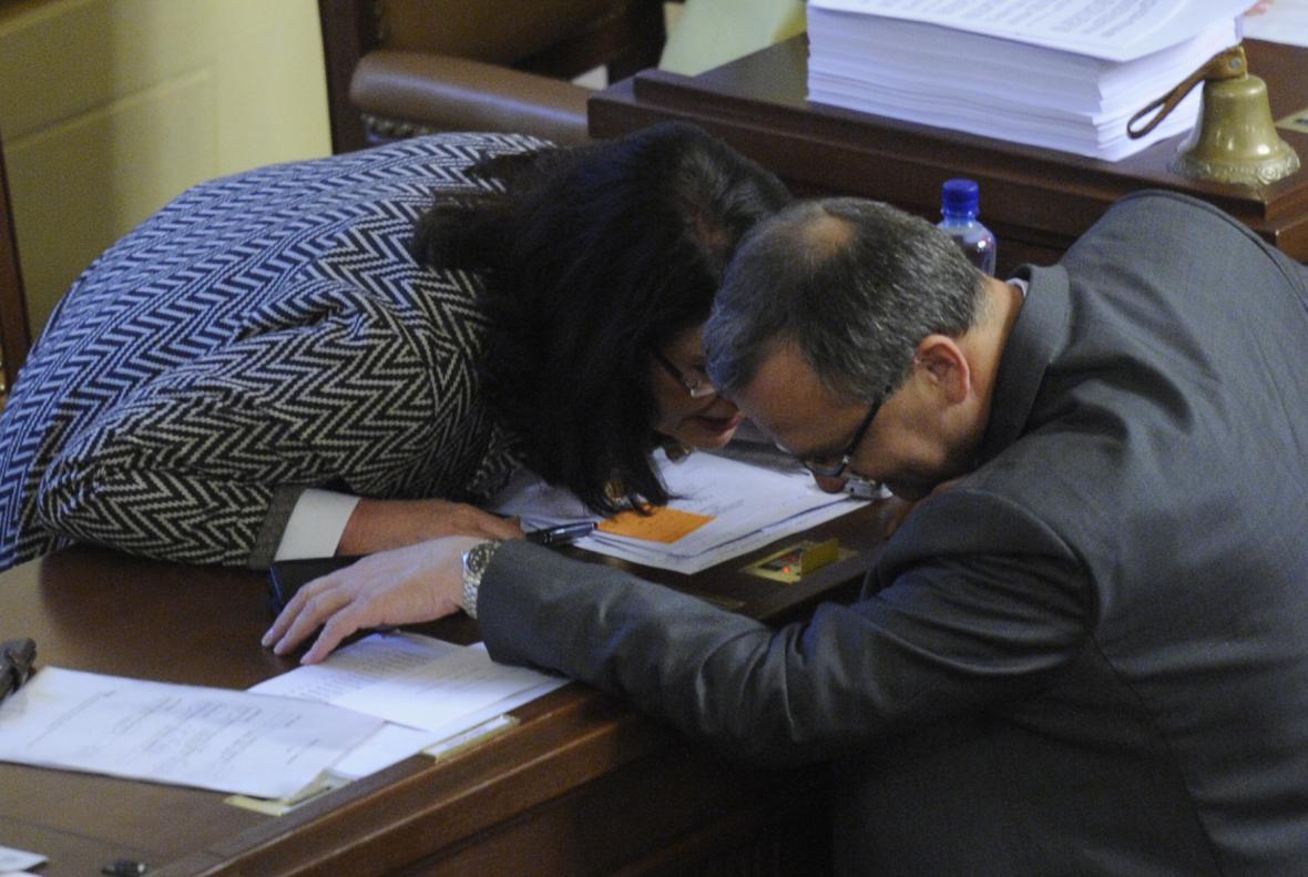 Miroslava Němcová a Miroslav Kalousek