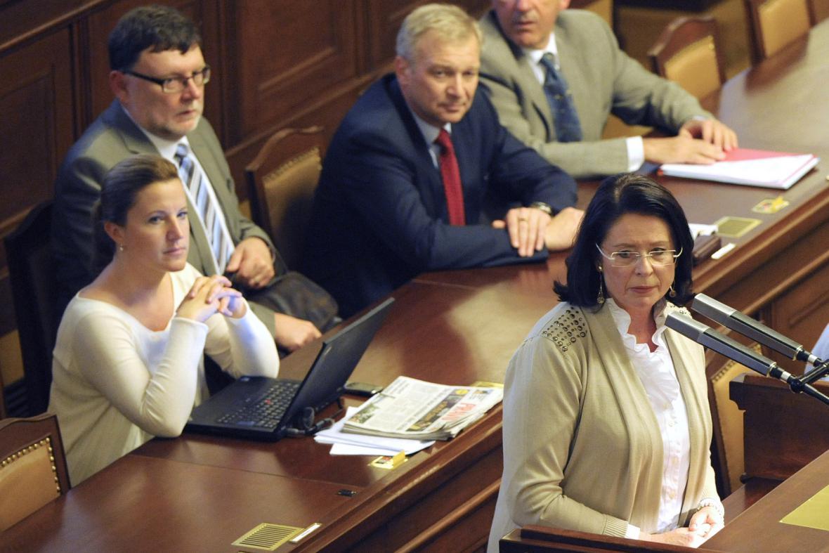 Miroslava Němcová ve sněmovně