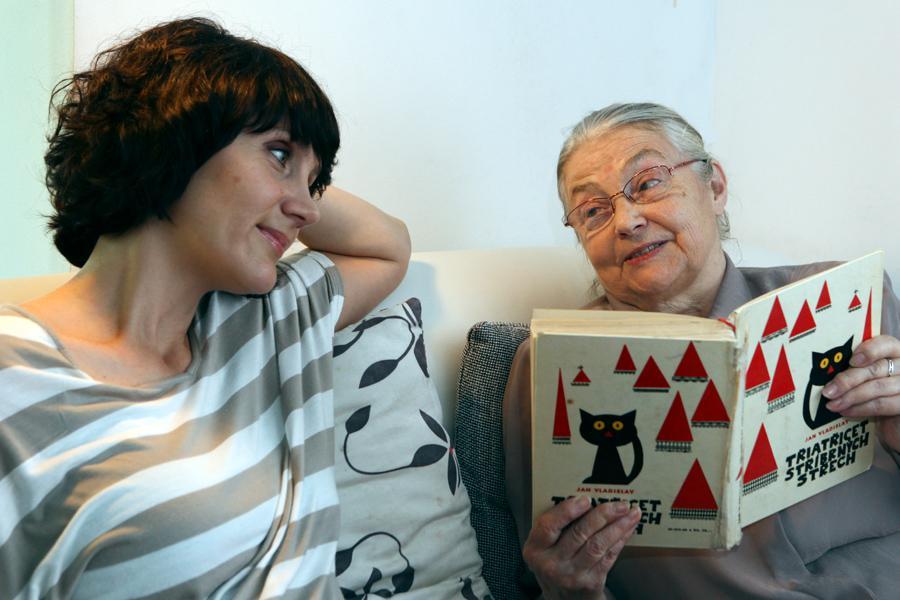 Ester Janečková s maminkou