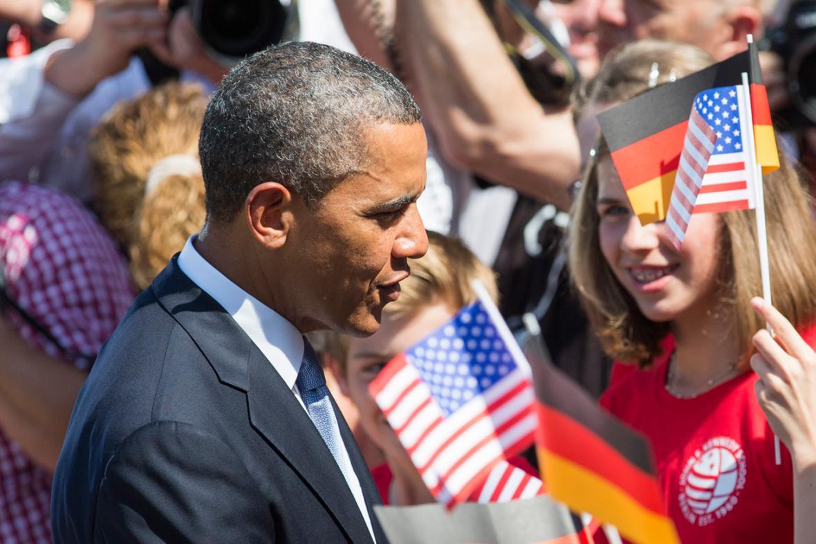 Barack Obama na návštěvě Berlína