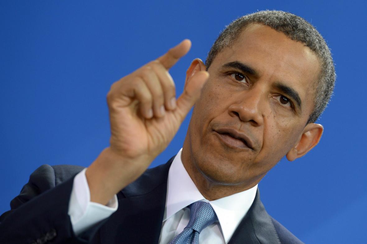 Barack Obama v Berlíně