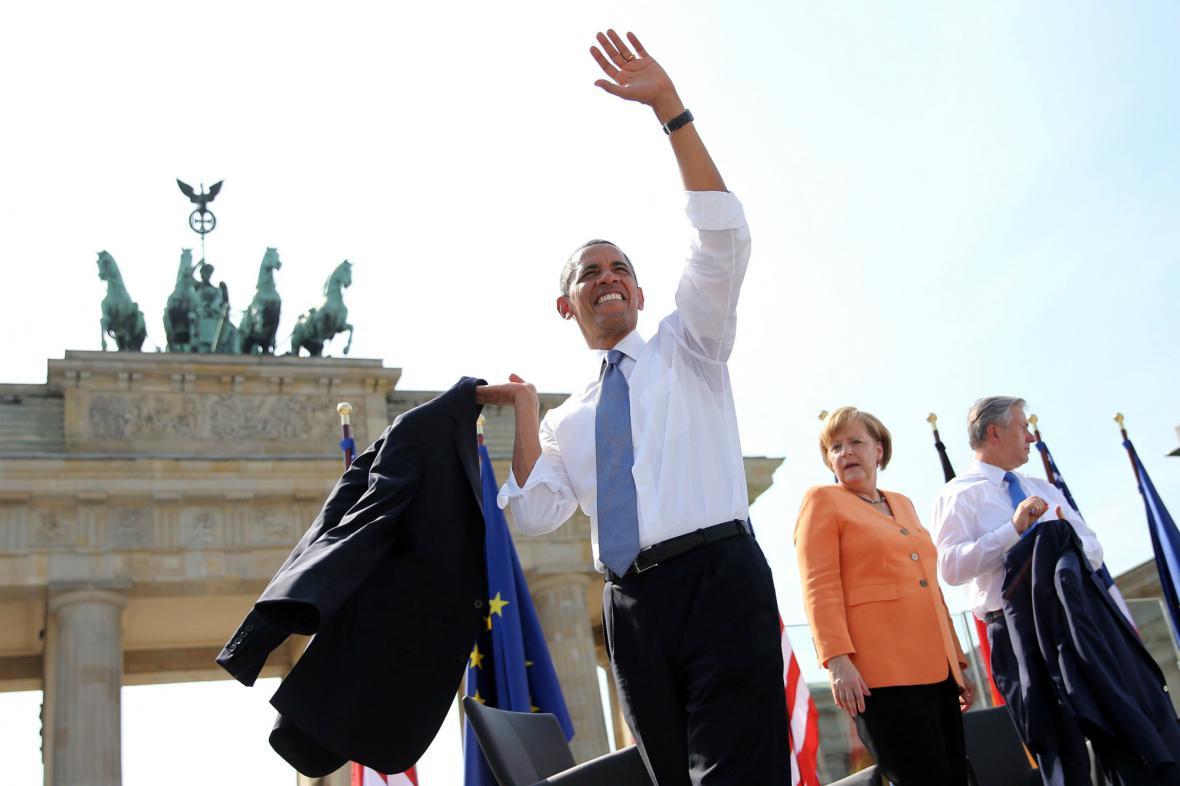 Barack Obama se loučí se svými berlínskými příznivci