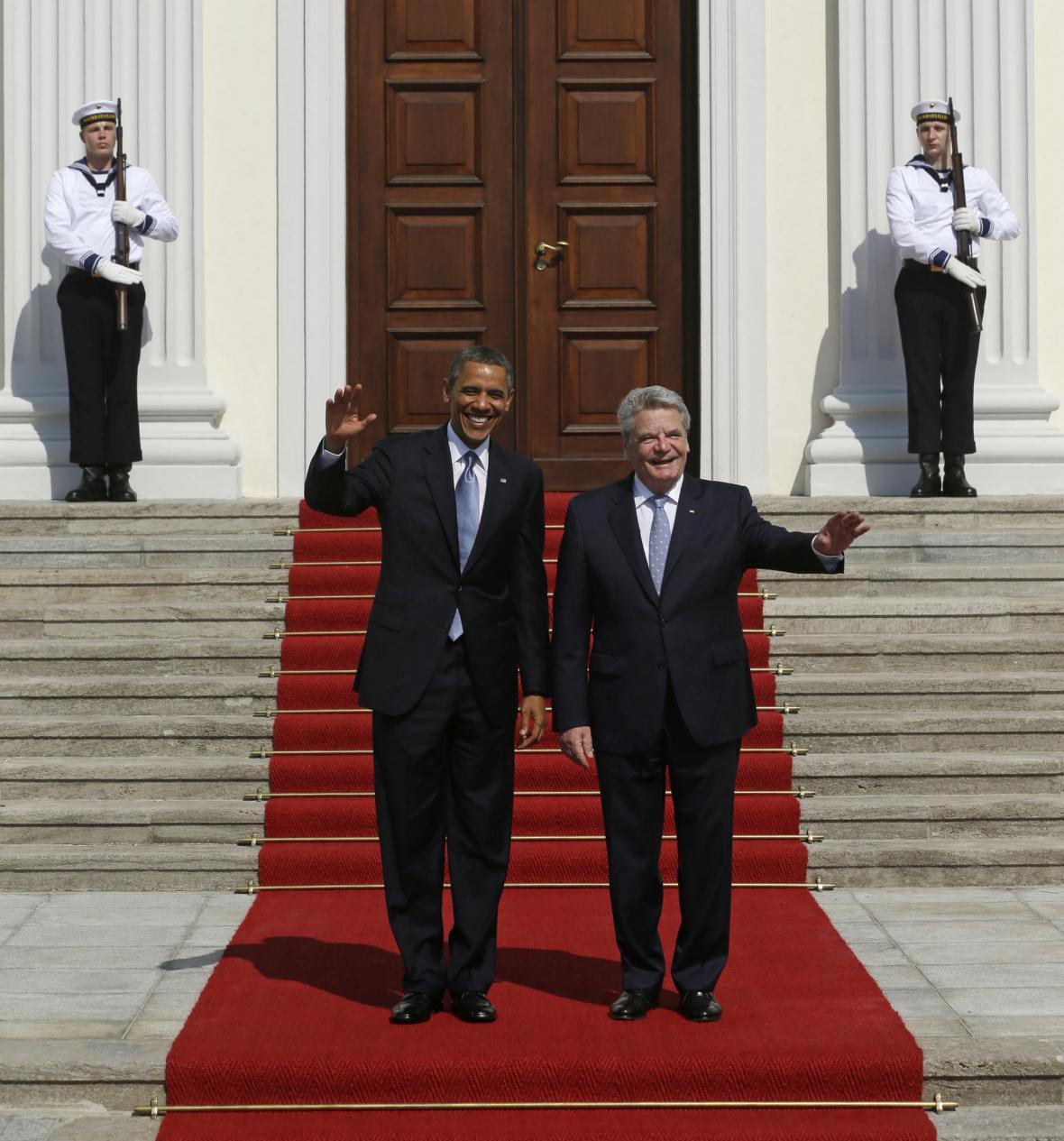 Barack Obama se v Berlíně sešel s Joachimem Gauckem