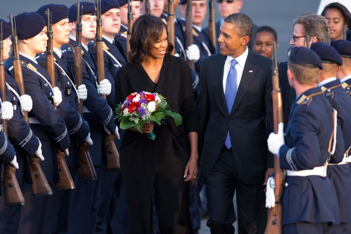 Michelle a Barack Obamovi v Berlíně