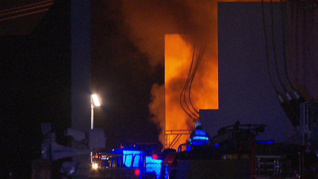 Požár trafostanice