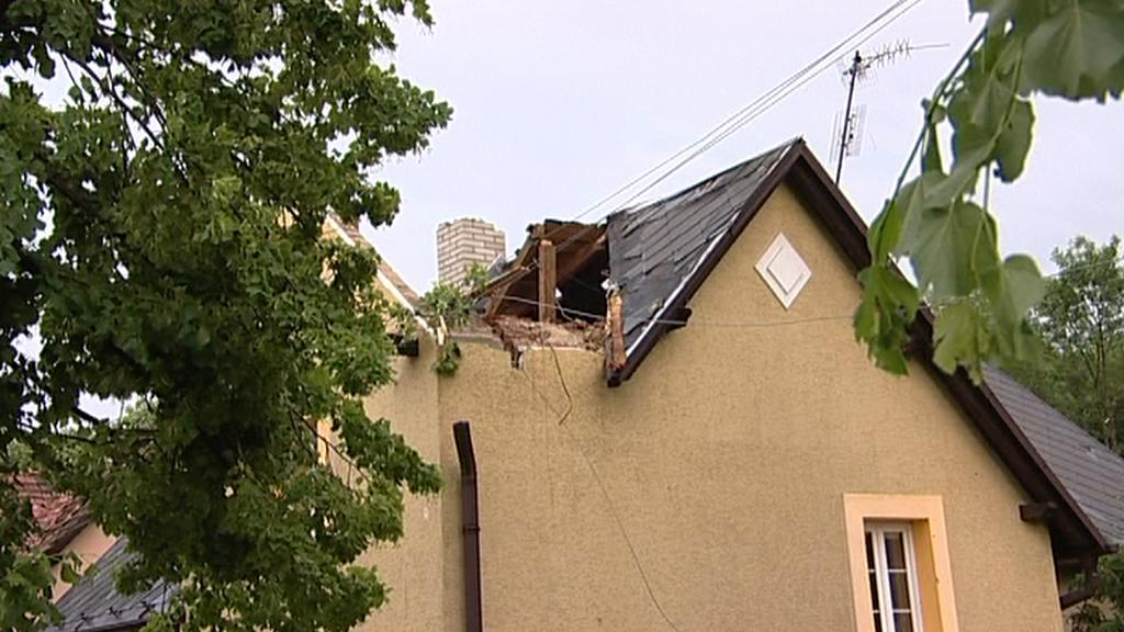Následky bouřky v Krnově