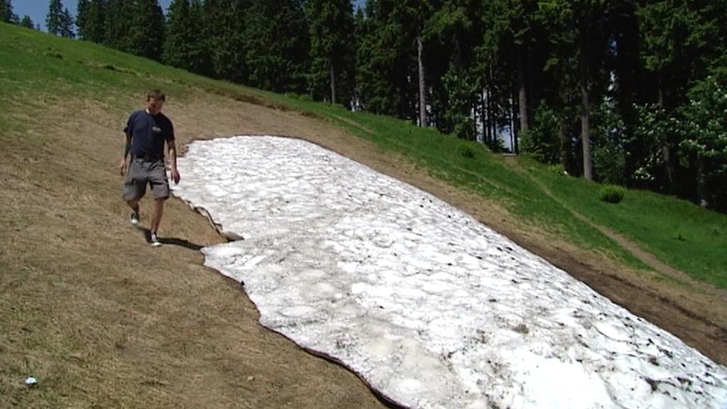 Sníh v Krkonoších 18. června