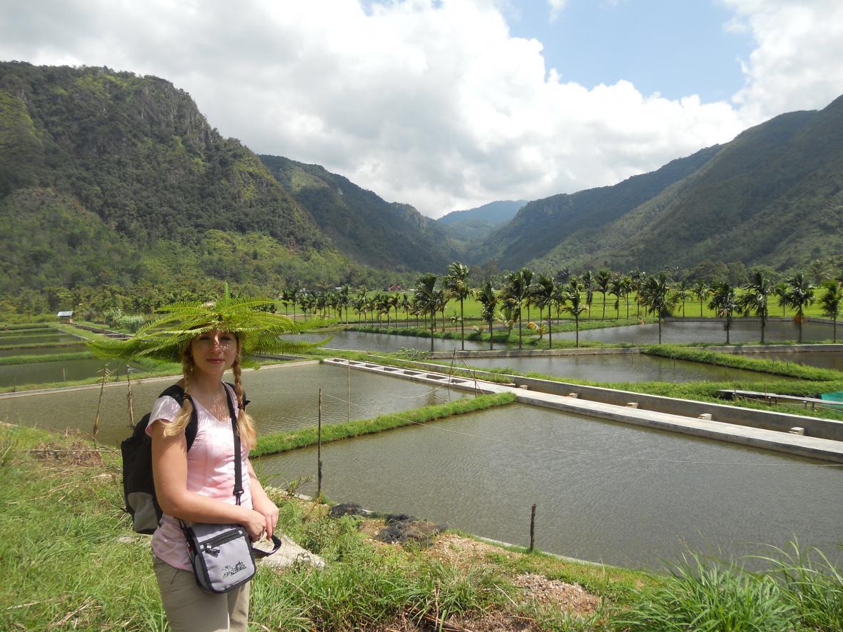 Ivana Šmelová na Sumatře v Indonésii