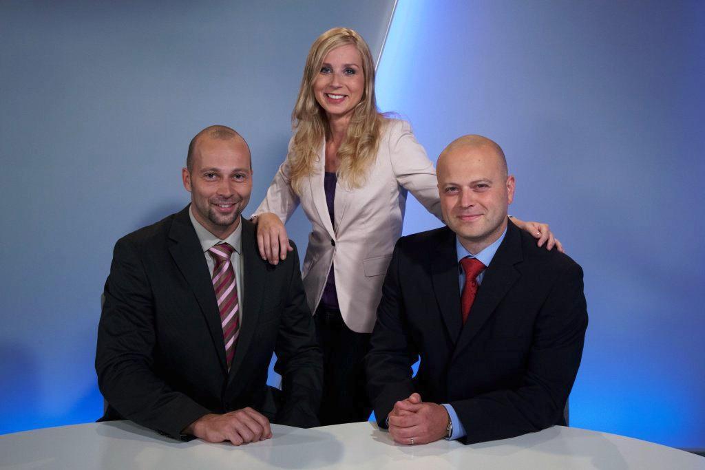 Ivana Šmelová s kolegy z ČT Brno
