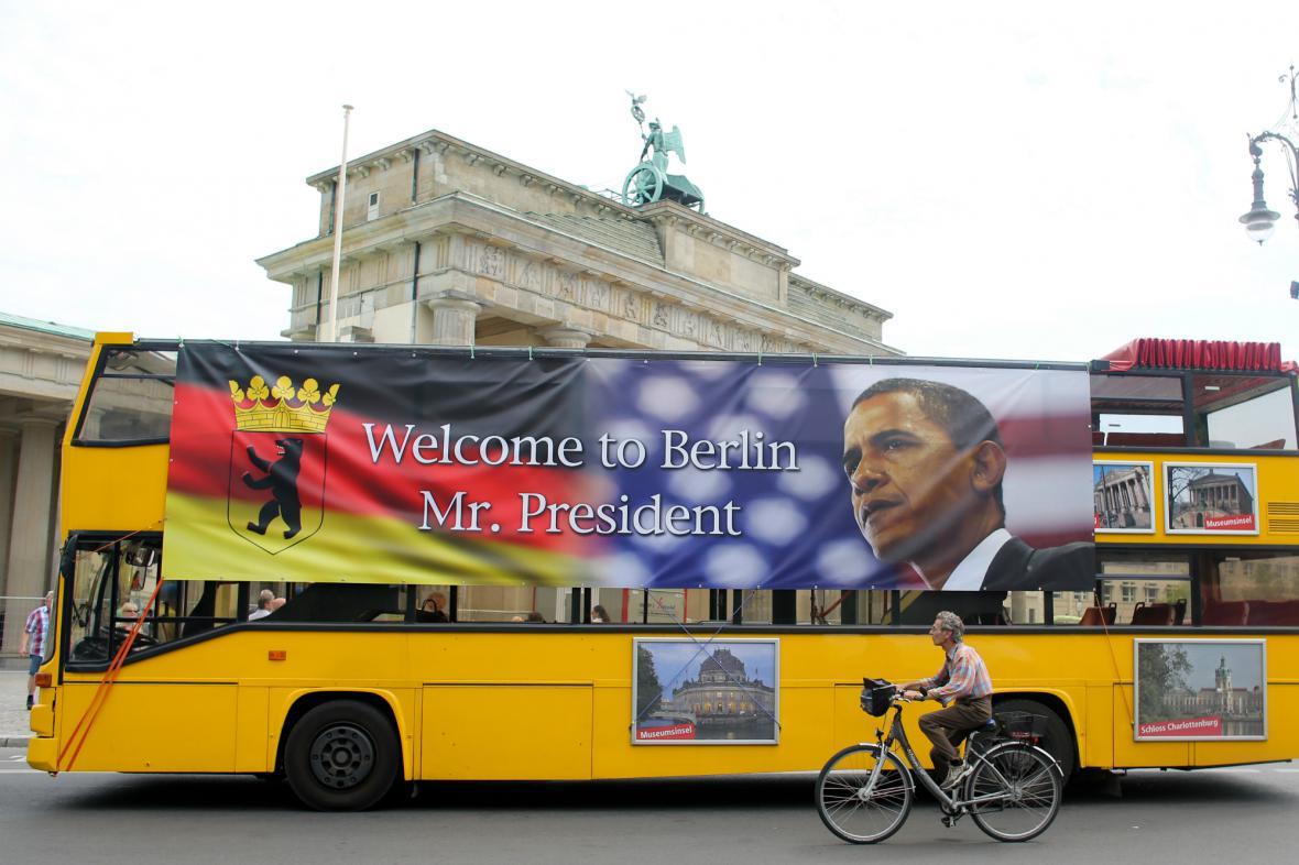 Berlín očekává příjezd Baracka Obamy