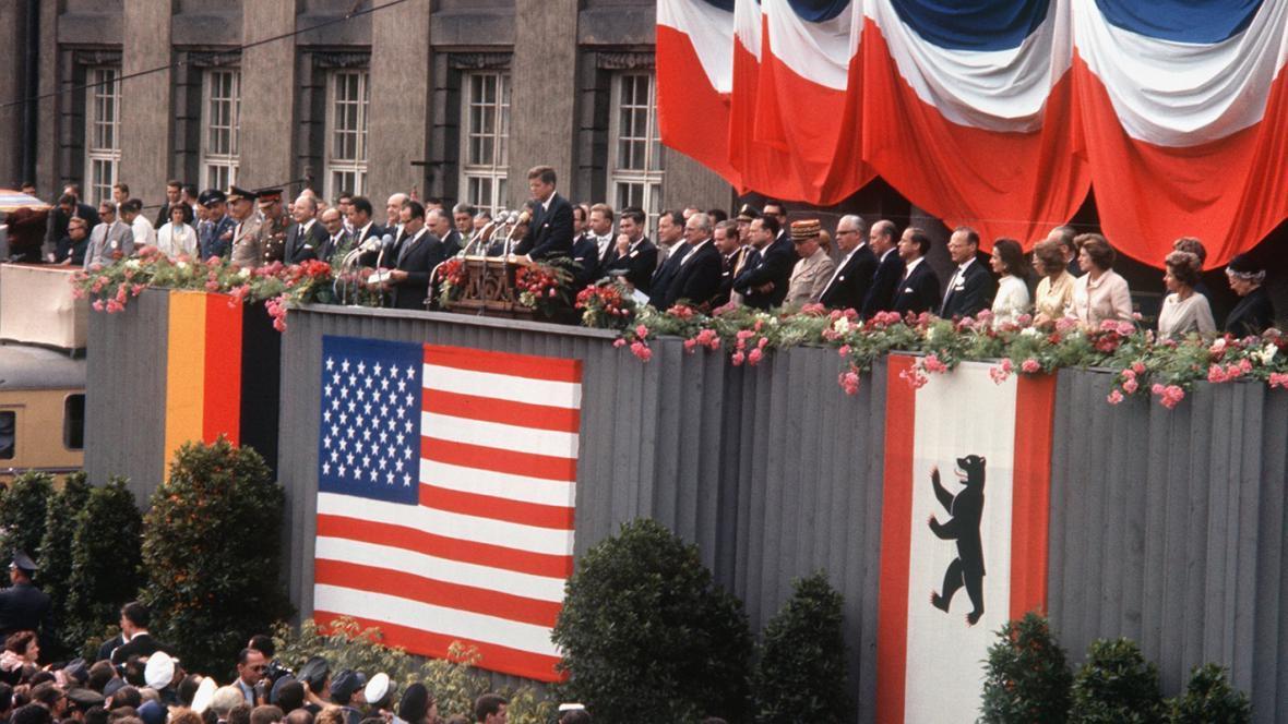 John Kennedy na návštěvě Berlína