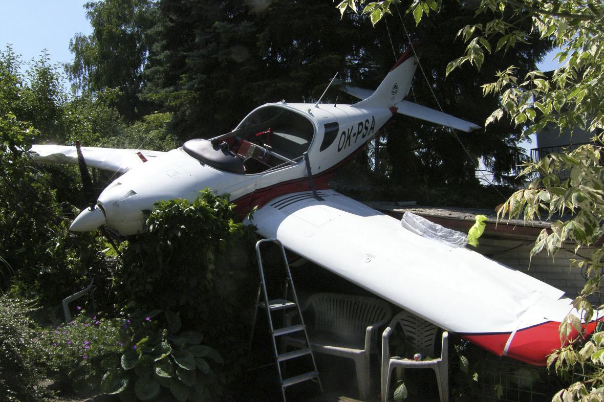 Havárie malého sportovního letadla v Uherském Hradišti